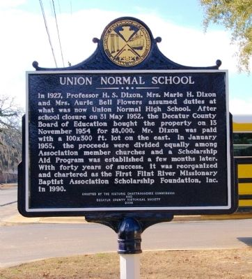 First Flint River Baptist Normal Institute / Union Normal School Marker image. Click for full size.