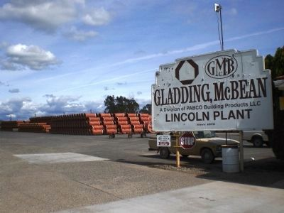 Gladding, McBean Plant - entrance sign image. Click for full size.