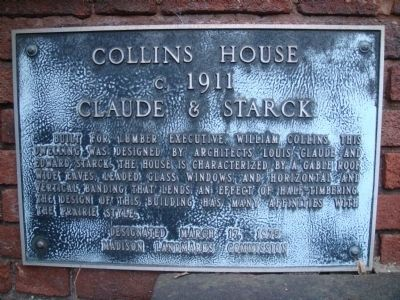 Collins House Marker image. Click for full size.