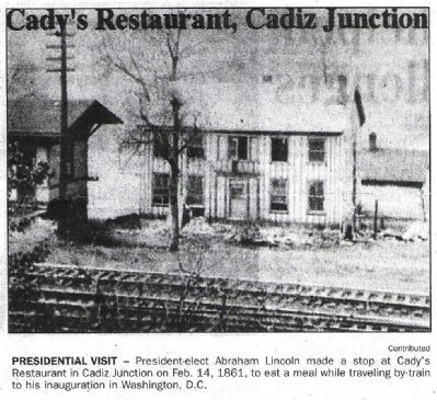 """Cady's Restaurant, Cadiz Junction"" image. Click for full size."