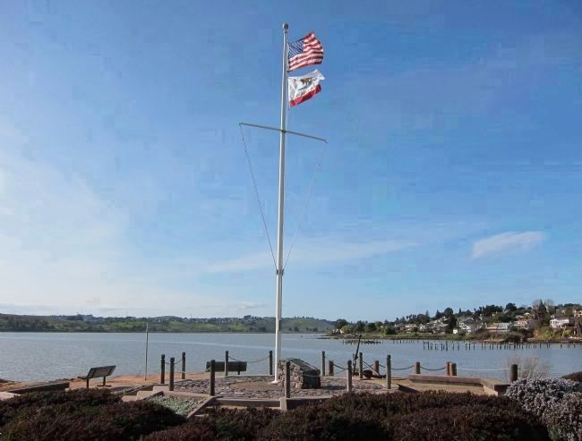 Commodore Jones Point Marker - view looking WNW image. Click for full size.