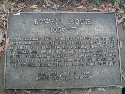 Bowen House Marker image. Click for full size.
