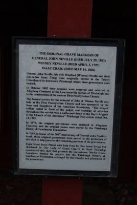 John Neville Grave Markers sign image. Click for full size.