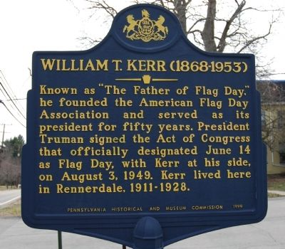 William T. Kerr Marker image. Click for full size.