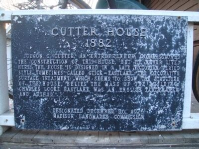 Cutter House Marker image. Click for full size.