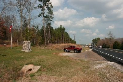 Gen. N.B. Forrest Captured Col. A.D. Streight Monument Marker Next to Alabama Highway 9 image. Click for full size.