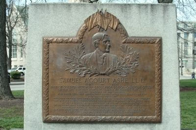 Samuel A'Court Ashe, LL. D. Marker Photo, Click for full size