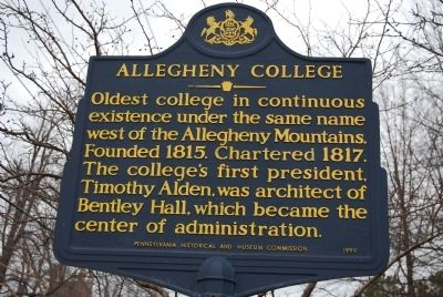 Allegheny College Marker image. Click for full size.