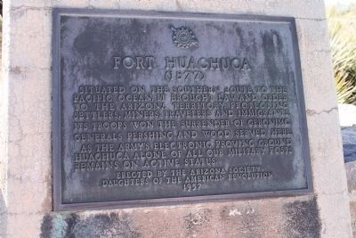 Fort Huachuca Marker image. Click for full size.