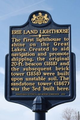 Erie Land Lighthouse Marker image. Click for full size.