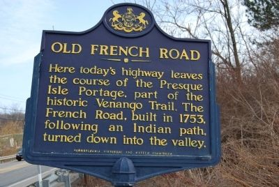 Old French Road Marker image. Click for full size.