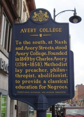 Avery College Marker Photo, Click for full size