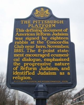 The Pittsburgh Platform Marker image. Click for full size.