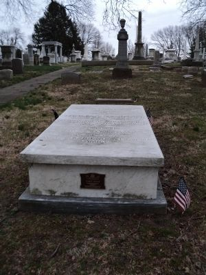 Marker in Laurel Hill Cemetery image. Click for full size.