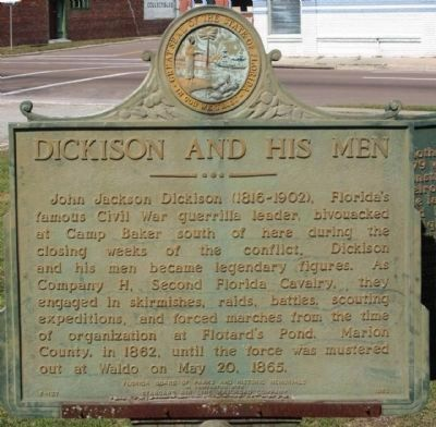 Dickison and His Men Marker Photo, Click for full size