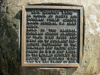 Gen. Quandt Lane Marker Photo, Click for full size