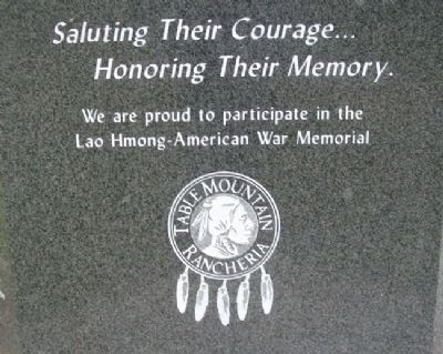 Lao Hmong American War Memorial Salute image. Click for full size.