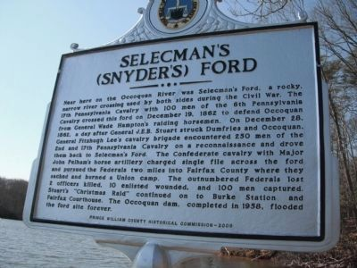 Selecman�s (Snyder�s) Ford Marker image. Click for full size.