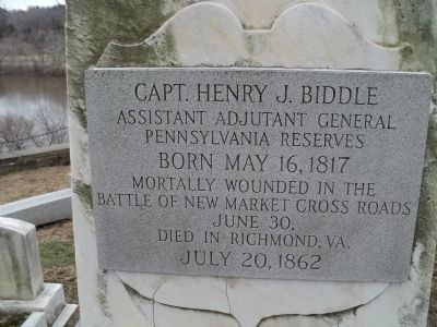 Capt. Henry J. Biddle Marker image. Click for full size.