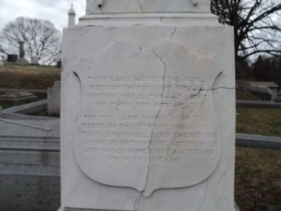 Back of Capt. Henry J. Biddle Monument image. Click for full size.