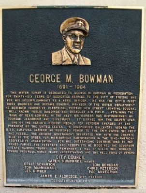 George M. Bowman Marker Photo, Click for full size