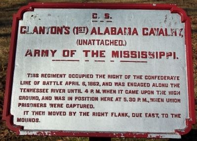 Clanton's (1st) Alabama Cavalry, Marker image. Click for full size.