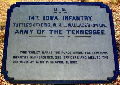 14th Iowa Infantry Marker image. Click for full size.
