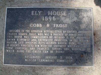Ely House Marker Photo, Click for full size