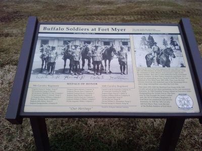 Buffalo Soldiers at Fort Myer Marker image. Click for full size.