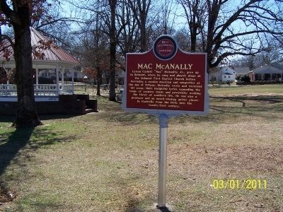 Mac McAnally Marker in C C Shook Park image. Click for full size.