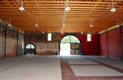 Livery Stable Interior -<br>Northwest Wall and Entrance (Rear) image. Click for full size.