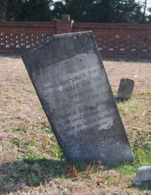 John Kennedy, Esq. Tombstone image. Click for full size.