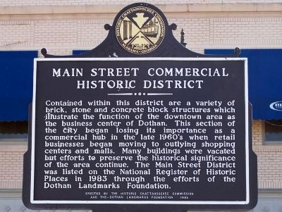 Main Street Commercial Historic District Marker -Side B image. Click for full size.