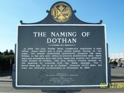 The Naming of Dothan Marker image. Click for full size.