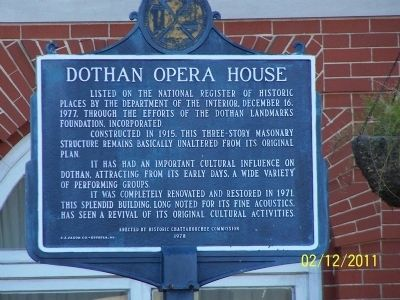 Dothan Opera House Marker image. Click for full size.