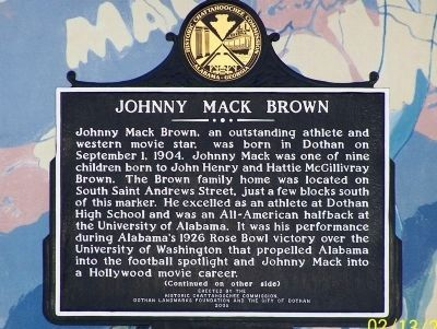 Johnny Mack Brown Marker image. Click for full size.