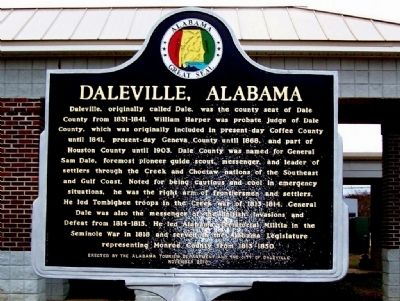 Daleville, Alabama Marker image. Click for full size.
