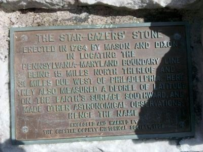 The Star Gazers' Stone Marker Photo, Click for full size