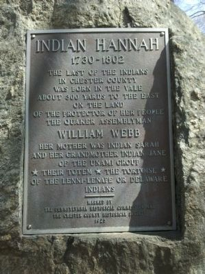 Indian Hannah Birthplace Marker Photo, Click for full size