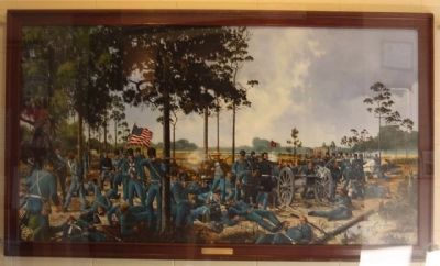Dade Battlefield, Visitor Center painting image. Click for full size.