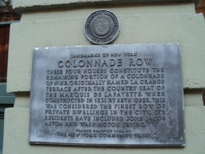 Colonnade Row Marker image. Click for full size.