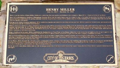 Henry Miller Marker Photo, Click for full size