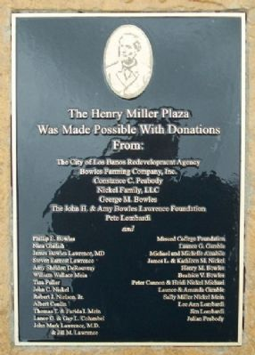 Henry Miller Plaza Donors image. Click for full size.