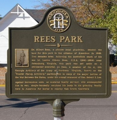 Rees Park Marker image. Click for full size.