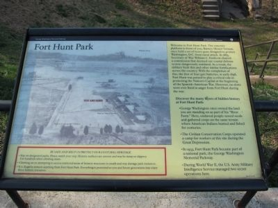 Fort Hunt Park Marker image. Click for full size.