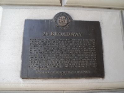 26 Broadway Marker image. Click for full size.