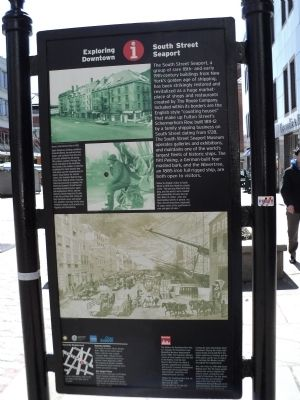 South Street Seaport Marker image. Click for full size.