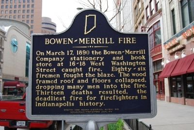 Bowen-Merrill Fire Marker image. Click for full size.