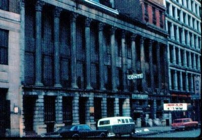 Colonnade Row in 1966 image. Click for full size.