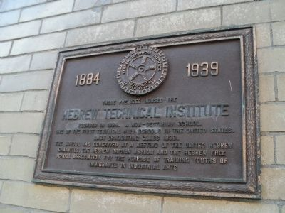 Hebrew Technical Institute Marker Photo, Click for full size